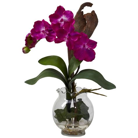 Orchid Arrangements In Vases by Purple Vanda Orchid Centerpiece Silk Flower Centerpieces