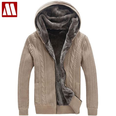 Stay Warm With Winter Sweaters by Winter Warm Thick Mens Sweaters Casual Faux Fur Lining