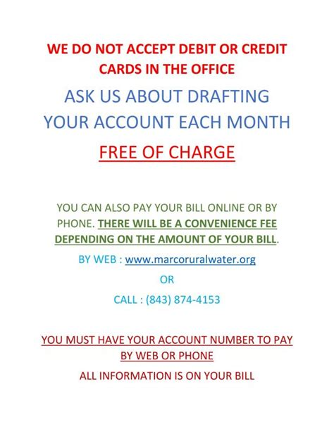 We Do Not Accept Credit Debit Cards Sign Template by Recent News Marco Rural Water Company Inc