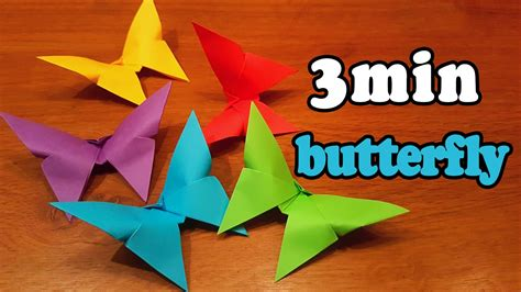 How Do You Make A Butterfly Out Of Paper - how to make an easy origami butterfly in 3 minutes