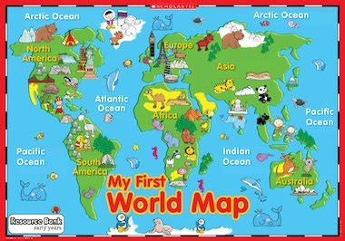 printable world map ks1 my first world map poster early years teaching