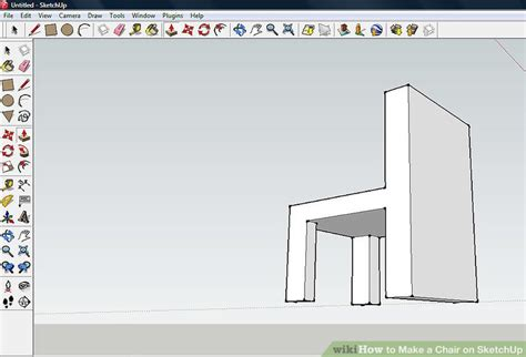chair tutorial google sketchup how to make a chair on sketchup 9 steps with pictures