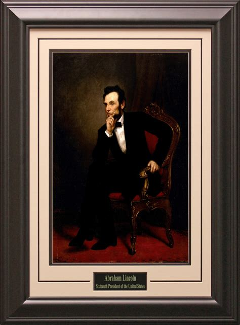 Framed And Matted by Abraham Lincoln 16th President Of The U S Framed And Matted Photo