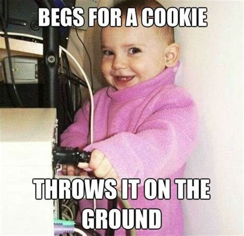Cute Kid Meme - funny baby wants a cookie meme