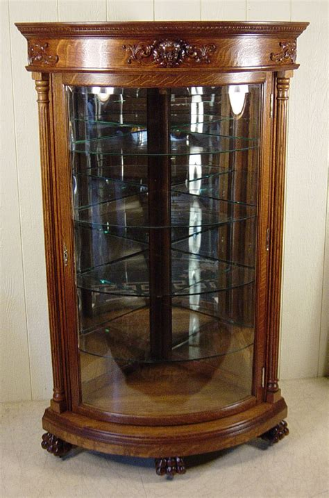 Tall Hutch R J Horner Oak Corner China Cabinet