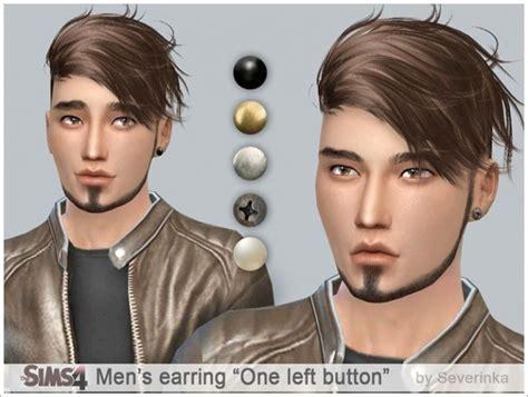 sims 4 mens earrings men s earrings set on left ear at sims by severinka 187 sims