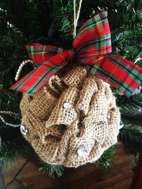 best 25 burlap christmas ornaments ideas on pinterest