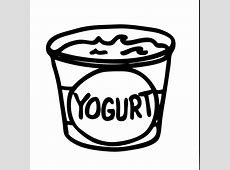 frozen yogurt coloring page