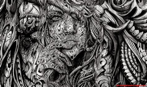 black and white pencil drawings abstract faces black and white amazing wallpapers