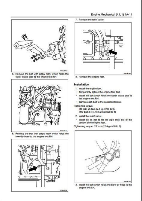 isuzu  jj diesel engine workshop service repair manual  repair manual store