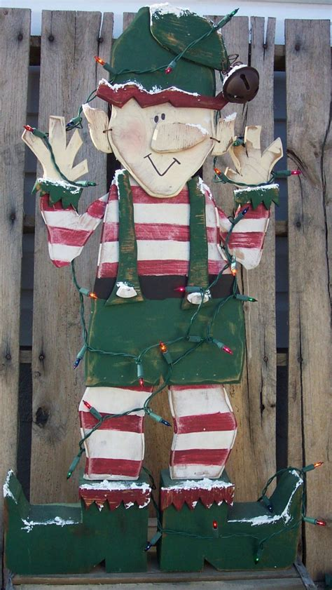 wood pattern christmas santa s christmas elf wood craft pattern for winter