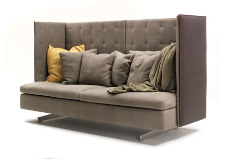 high back loveseat furniture grantorino high back sofa by poltrona frau stylepark