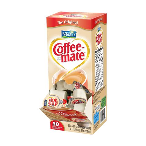 Coffee Mate Creamer coffee mate original liquid singles coffee creamer 0 08 creamer