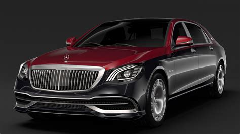 2019 Mercedes Maybach S650 by Mercedes Maybach S 650 Pullman Vv222 2019 3d Model
