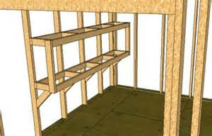 how to build storage shed shelves