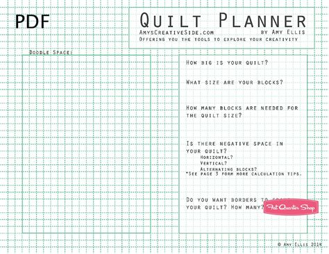 Quilt Planner Free by Quilt Planner Downloadable Pdf Booklet Ellis
