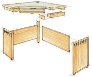 crafters corner computer desk plans woodworking