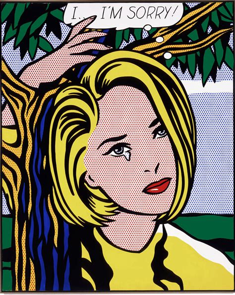 pop andy warhol roy lichtenstein i i m sorry the broad
