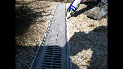 front yard concrete drain installation in hanover pa 17331 ryan s landscaping youtube