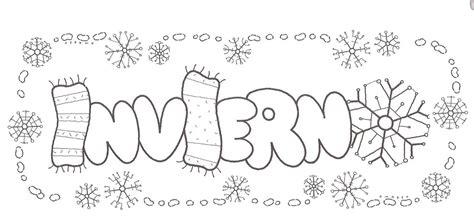 imagenes para colorear vacaciones de invierno el invierno dibujos para colorear