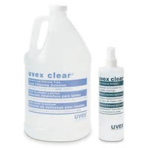 uvex clear 174 lens cleaning solution safety eyewear seton