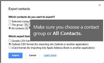format csv google contacts import gmail contacts to outlook office support