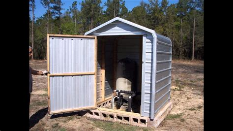 pump house  cover shed youtube