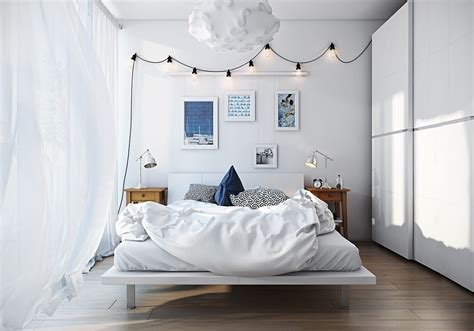 Industrial Bedrooms by Scandinavian Bedroom Design For Woman With A White Color