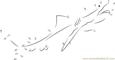 free printable dot to dot shark tiger look shark dot to dot printable worksheet
