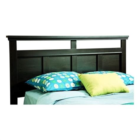 south shore versa full queen panel headboard in black