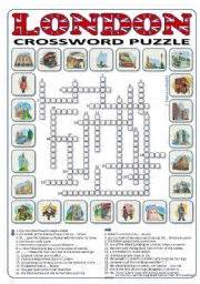 london crossword puzzle 24 words