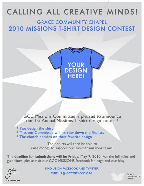 t shirt design contest gcc s missions blog
