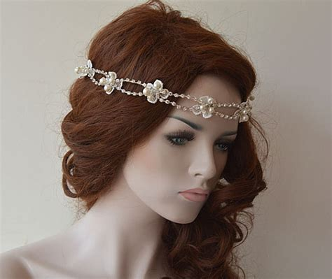 rhinestone and headband wedding headband bridal