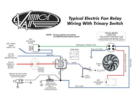 electric fan thermostat wiring diagram electric fan motor