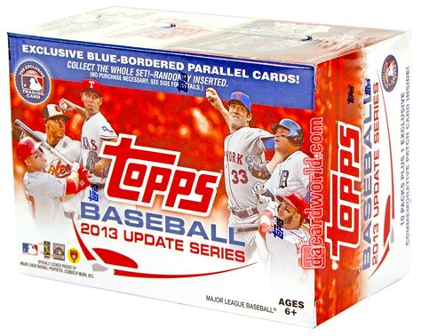 card packs 2013 topps update baseball 10 pack box bonus patch card
