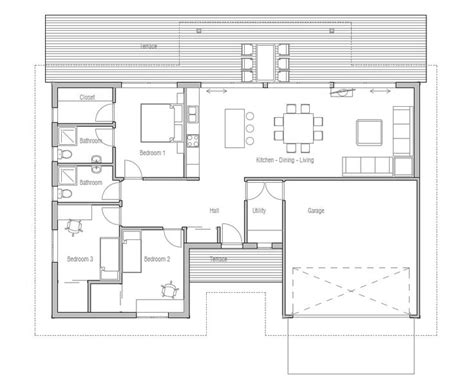 Vaulted Ceiling 4 Bedroom House Plans Modern House Plan With Vaulted Ceiling In Living Dining