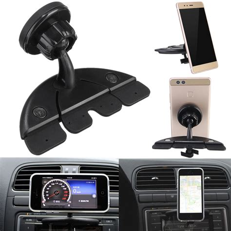 car mount for car cd player slot bracket magnetic phone holder mount for