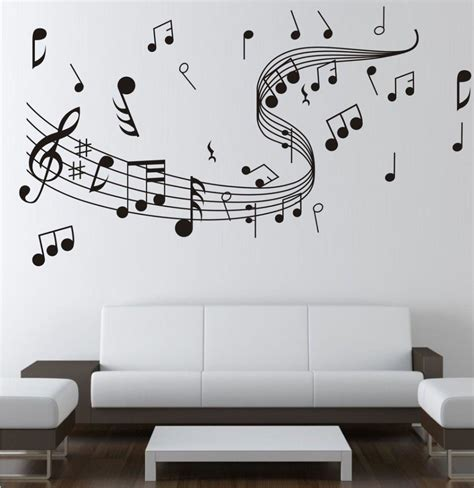 music note bedroom music note wall stickers decor home wall decor