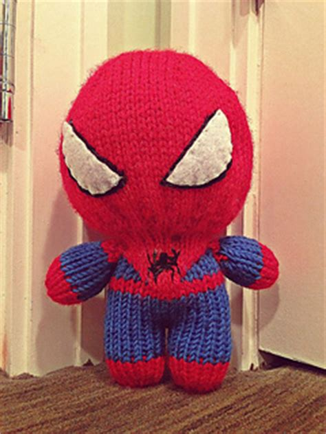 knitting pattern for spiderman doll ravelry knitted spiderman pattern by irene mccormick
