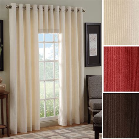 Grommet Window Curtains Manchester Corduroy Grommet Window Treatment