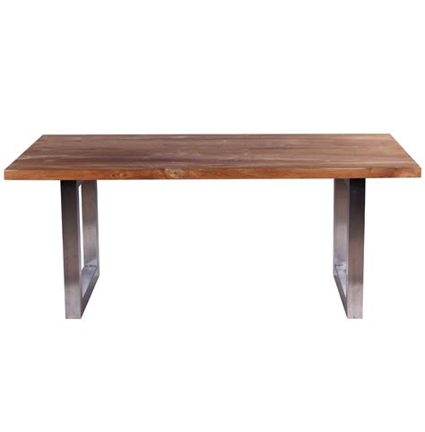 Wood And Metal Dining Tables Metal Wood Dining Table