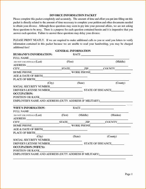 Texas Divorce Facts Texas Divorce Source   7 texas divorce papers divorce document
