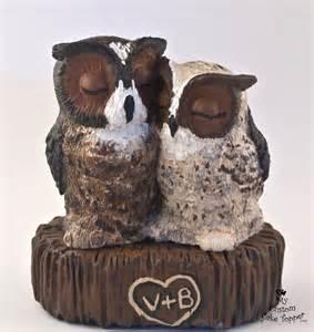 owl wedding cake topper bird wedding cake toppers my custom cake topper