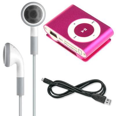 Jo In Usb Mp3player mini shuffling mp3 player with usb cable and headphones