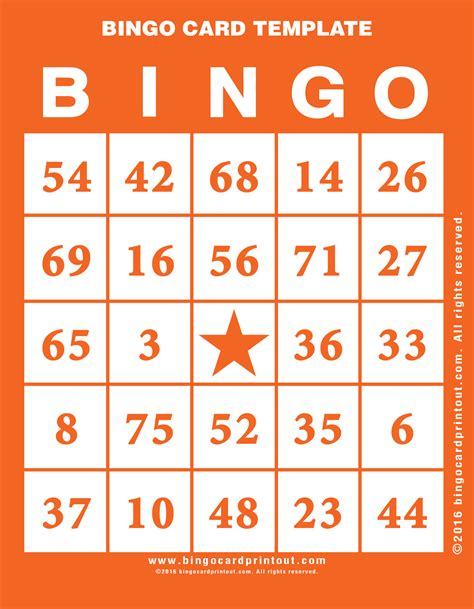 Bingo Card Template 5x5 by Template For Bingo Card Bingo Card Template