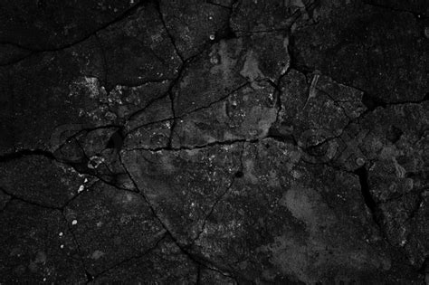 Find Floor Plans by Black Cracked Concrete Texture Closeup Background Stock