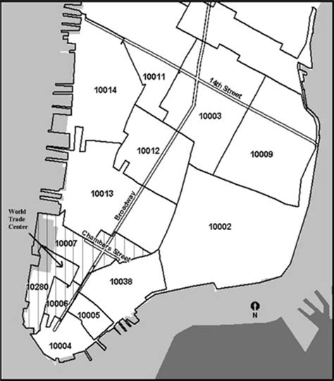 zip code map nyc manhattan manhattan zip code