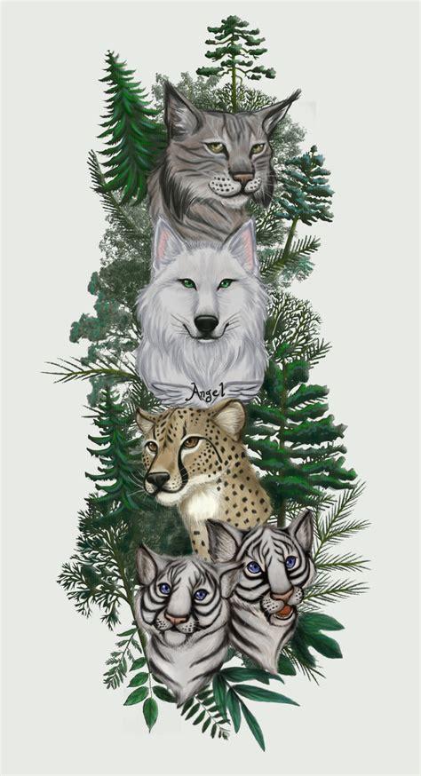 wildlife tattoo colored 2 by otakuec on deviantart