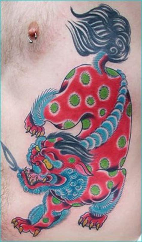 traditional foo dog tattoo designs foo sheep and foo on