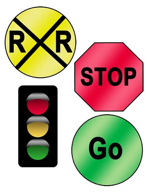 printable railroad signs digital download road sign printables awesome traffic